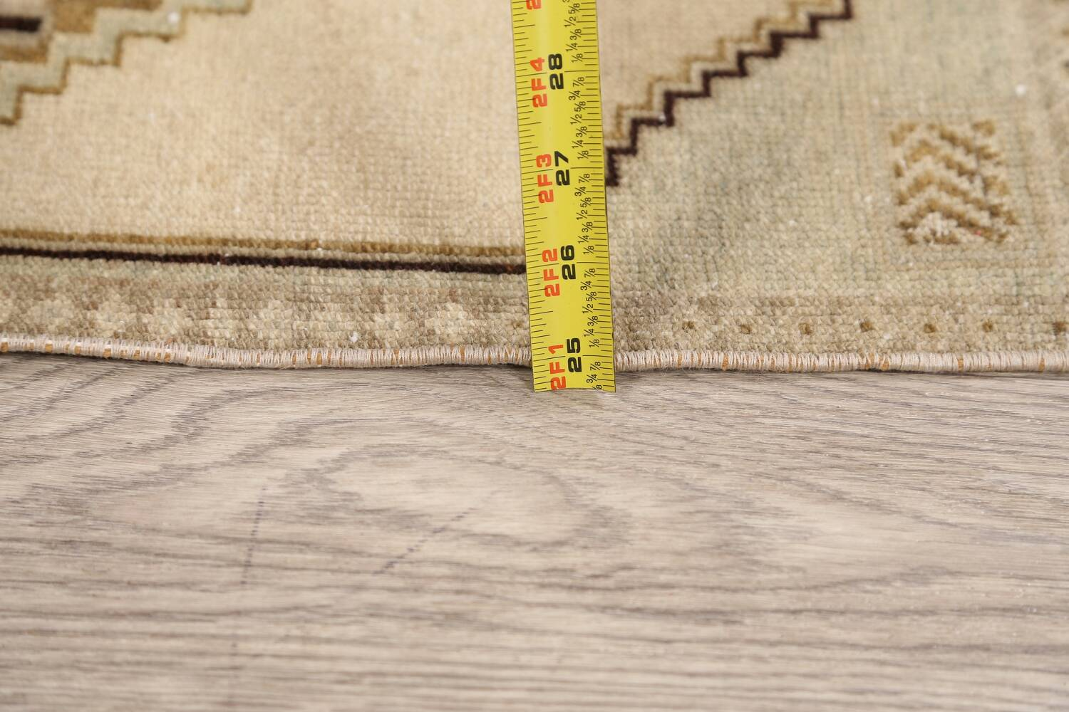 Muted Distressed Oushak Oriental Area Rug 1x3 image 16