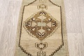 Muted Distressed Oushak Oriental Area Rug 1x3 image 3