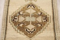 Muted Distressed Oushak Oriental Area Rug 1x3 image 4