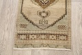 Muted Distressed Oushak Oriental Area Rug 1x3 image 8