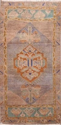 Muted Distressed Oushak Oriental Area Rug 2x3