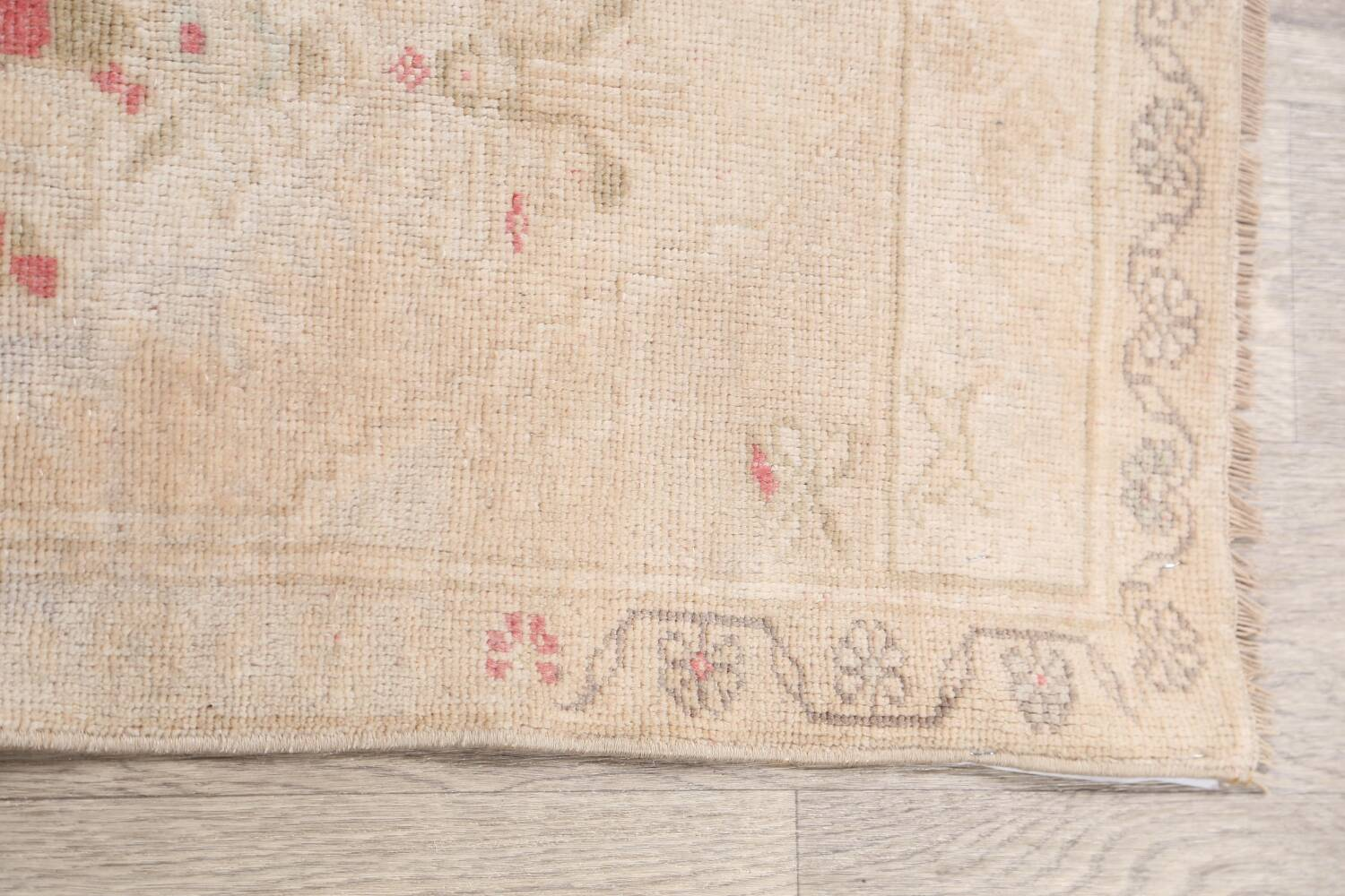 Muted Distressed Oushak Oriental Area Rug 2x3 image 10