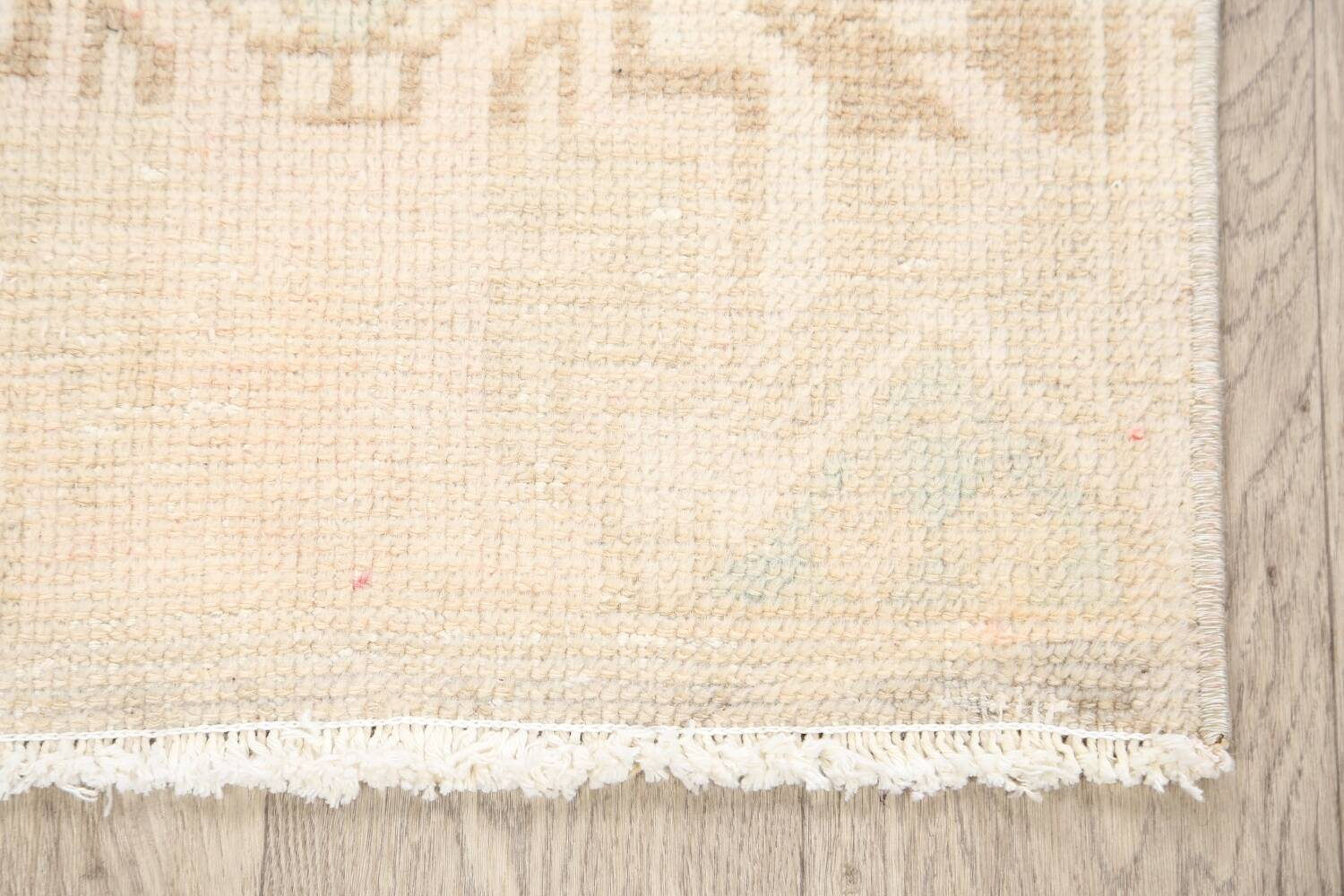 Muted Distressed Oushak Oriental Area Rug 2x3 image 5