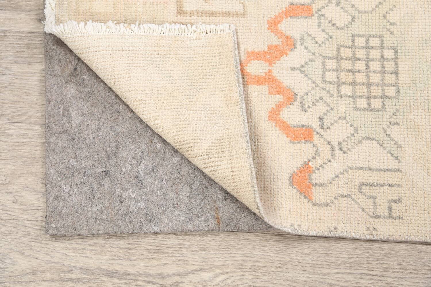 Muted Distressed Oushak Oriental Area Rug 2x3 image 7