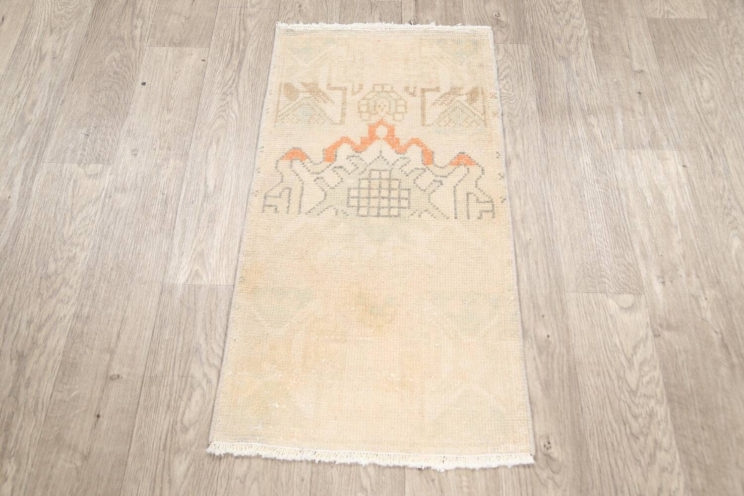 Muted Distressed Oushak Oriental Area Rug 2x3 image 12