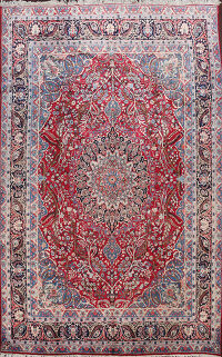 Antique Yazd Vegetable Dye Persian Area Rug 10x13