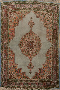 Antique Geometric Tabriz Persian Area Rug 2x3