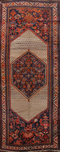 Pre-1900 Antique Vegetable Dye Malayer Persian Area Rug 6x13