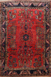 Antique Lilian Persian Area Rug 9x12