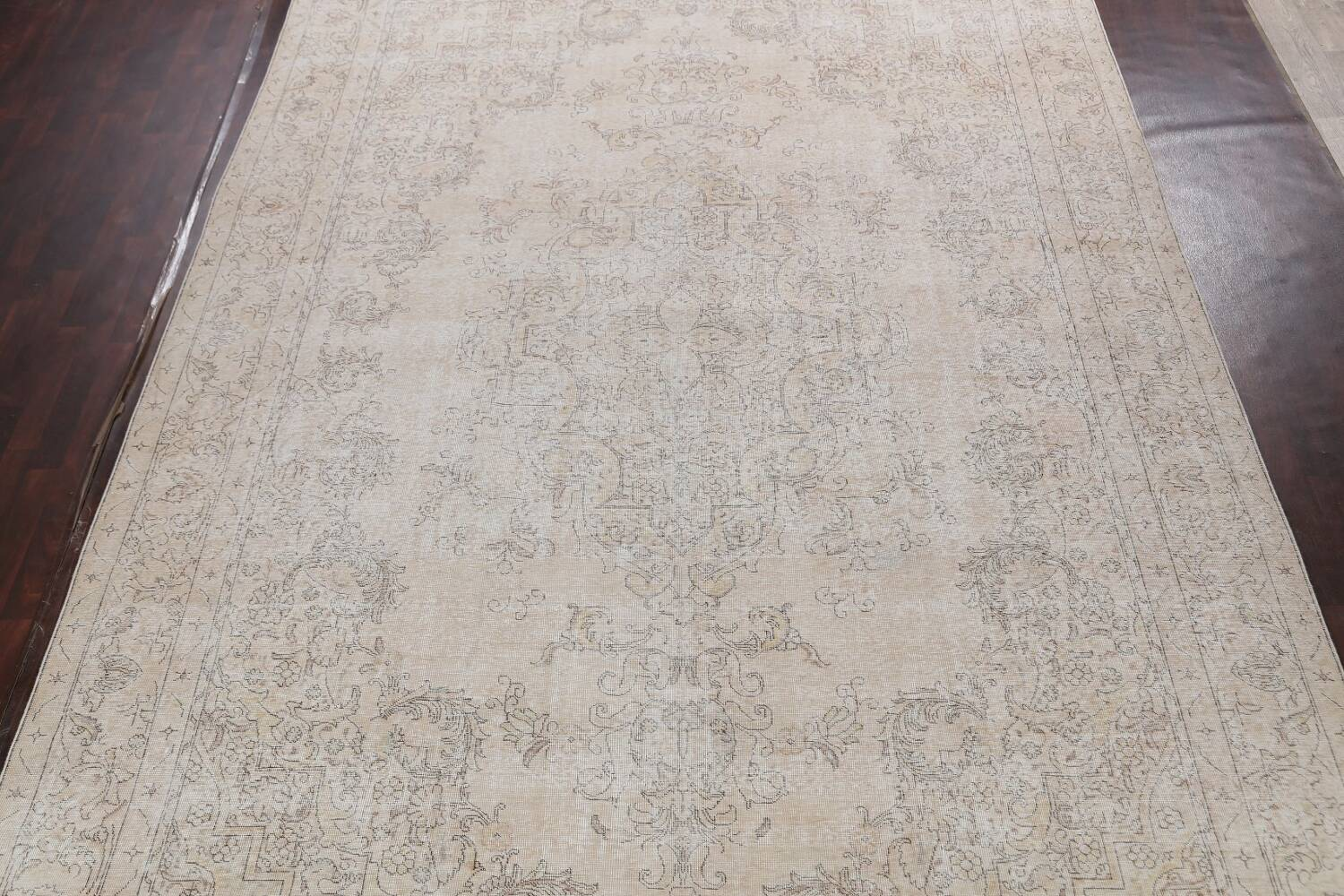 Antique Muted Distressed Tabriz Persian Area Rug 10x16 Large image 3