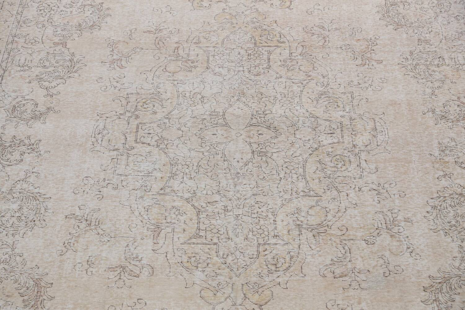 Antique Muted Distressed Tabriz Persian Area Rug 10x16 Large image 4