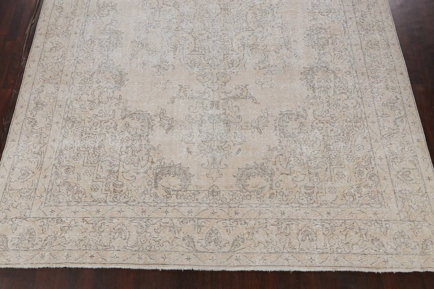 Antique Muted Distressed Tabriz Persian Area Rug 10x16 Large image 8