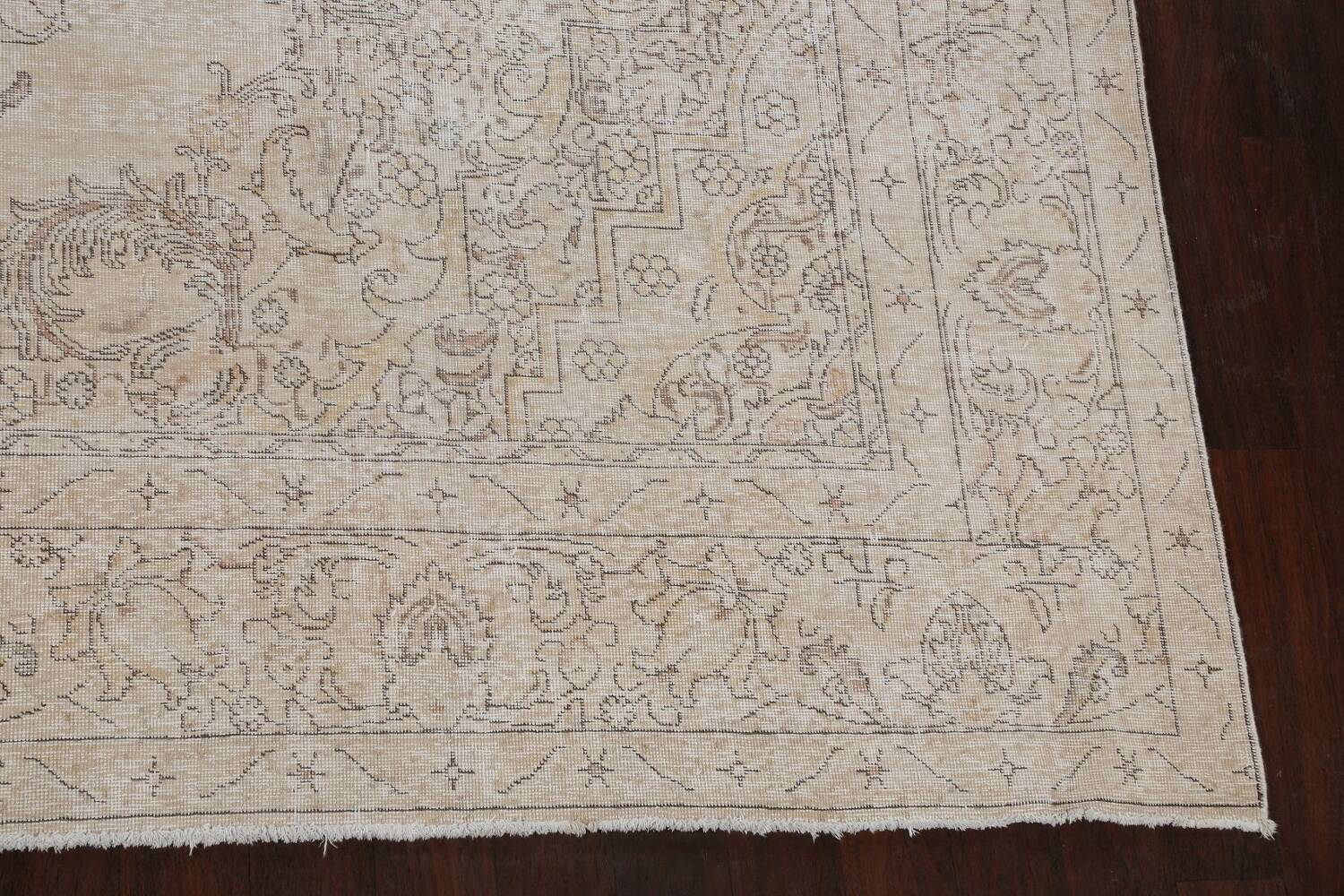 Antique Muted Distressed Tabriz Persian Area Rug 10x16 Large image 5