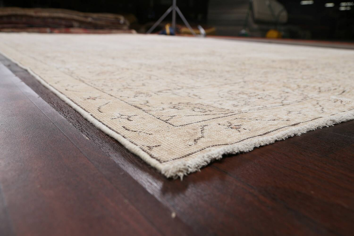Antique Muted Distressed Tabriz Persian Area Rug 10x16 Large image 6