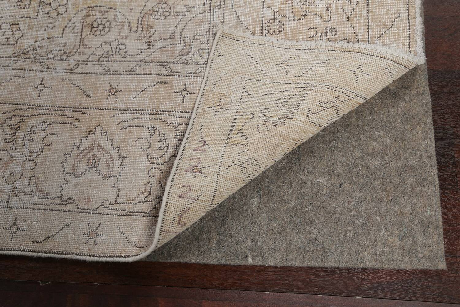 Antique Muted Distressed Tabriz Persian Area Rug 10x16 Large image 7
