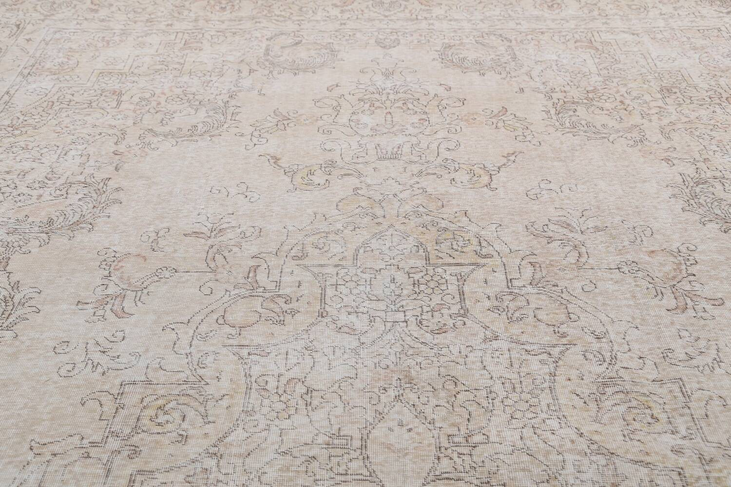 Antique Muted Distressed Tabriz Persian Area Rug 10x16 Large image 12
