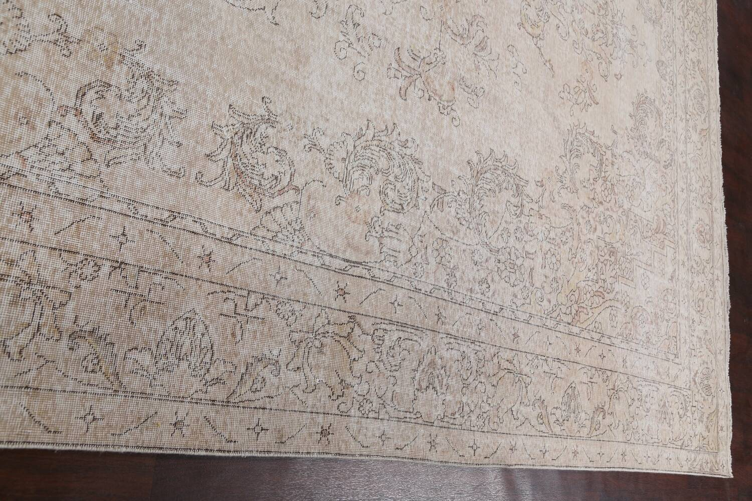 Antique Muted Distressed Tabriz Persian Area Rug 10x16 Large image 13