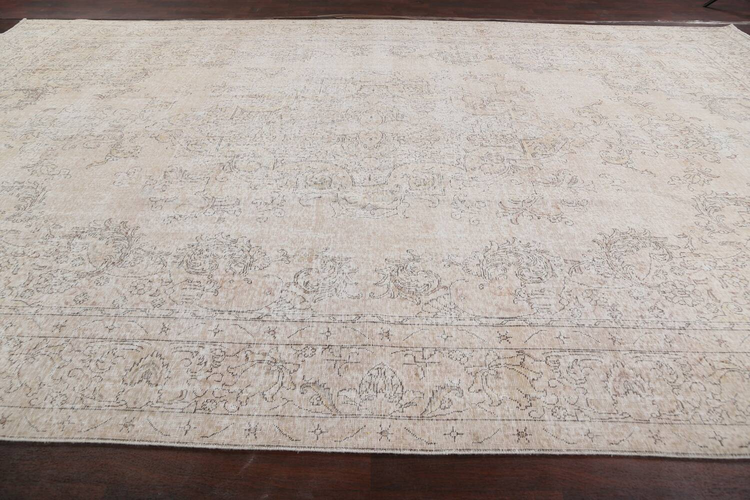 Antique Muted Distressed Tabriz Persian Area Rug 10x16 Large image 14