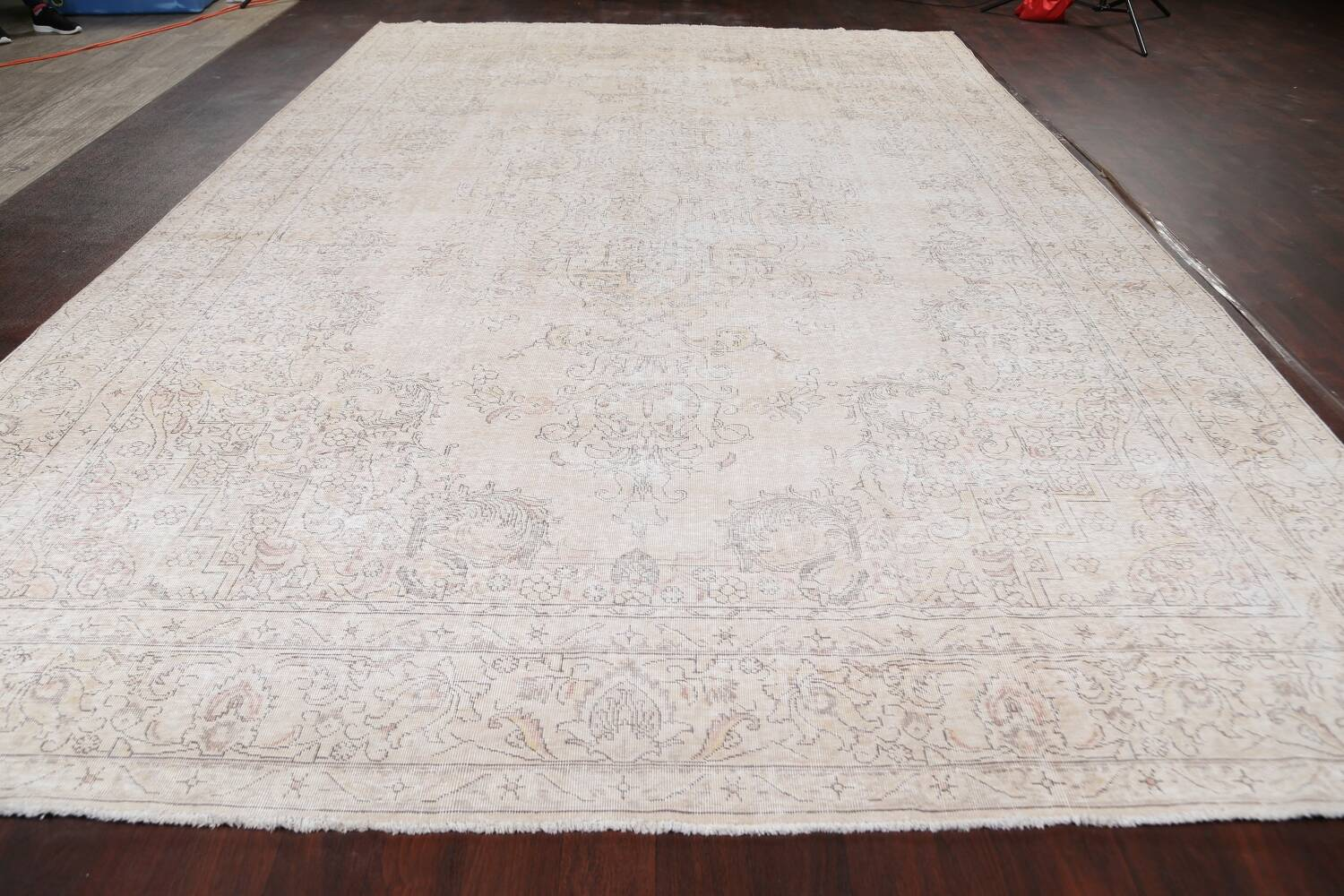 Antique Muted Distressed Tabriz Persian Area Rug 10x16 Large image 15