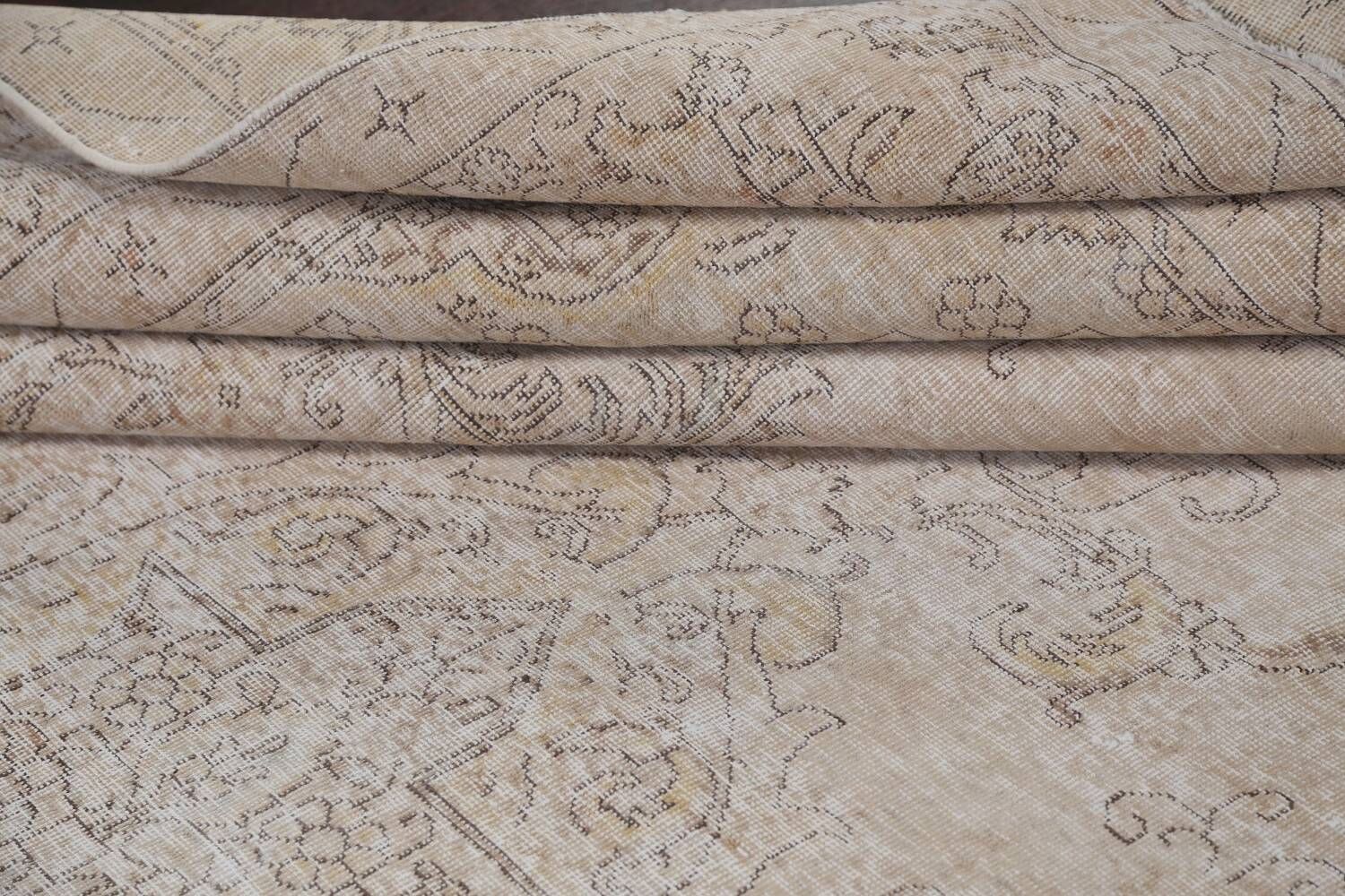 Antique Muted Distressed Tabriz Persian Area Rug 10x16 Large image 16
