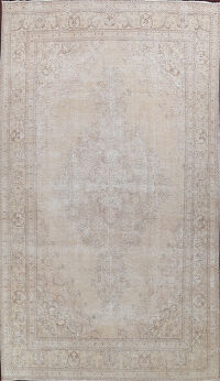 Antique Muted Distressed Tabriz Persian Area Rug 10x16 Large