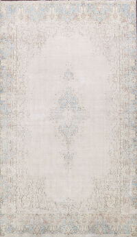Muted Distressed Kerman Persian Area Rug 8x12