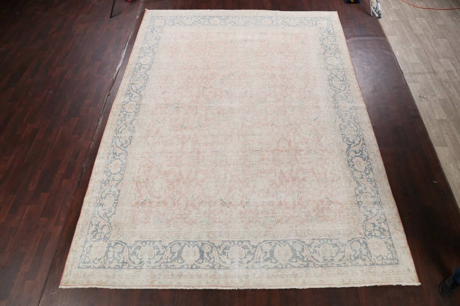 Antique Muted Kerman Persian Area Rug 10x13 image 2