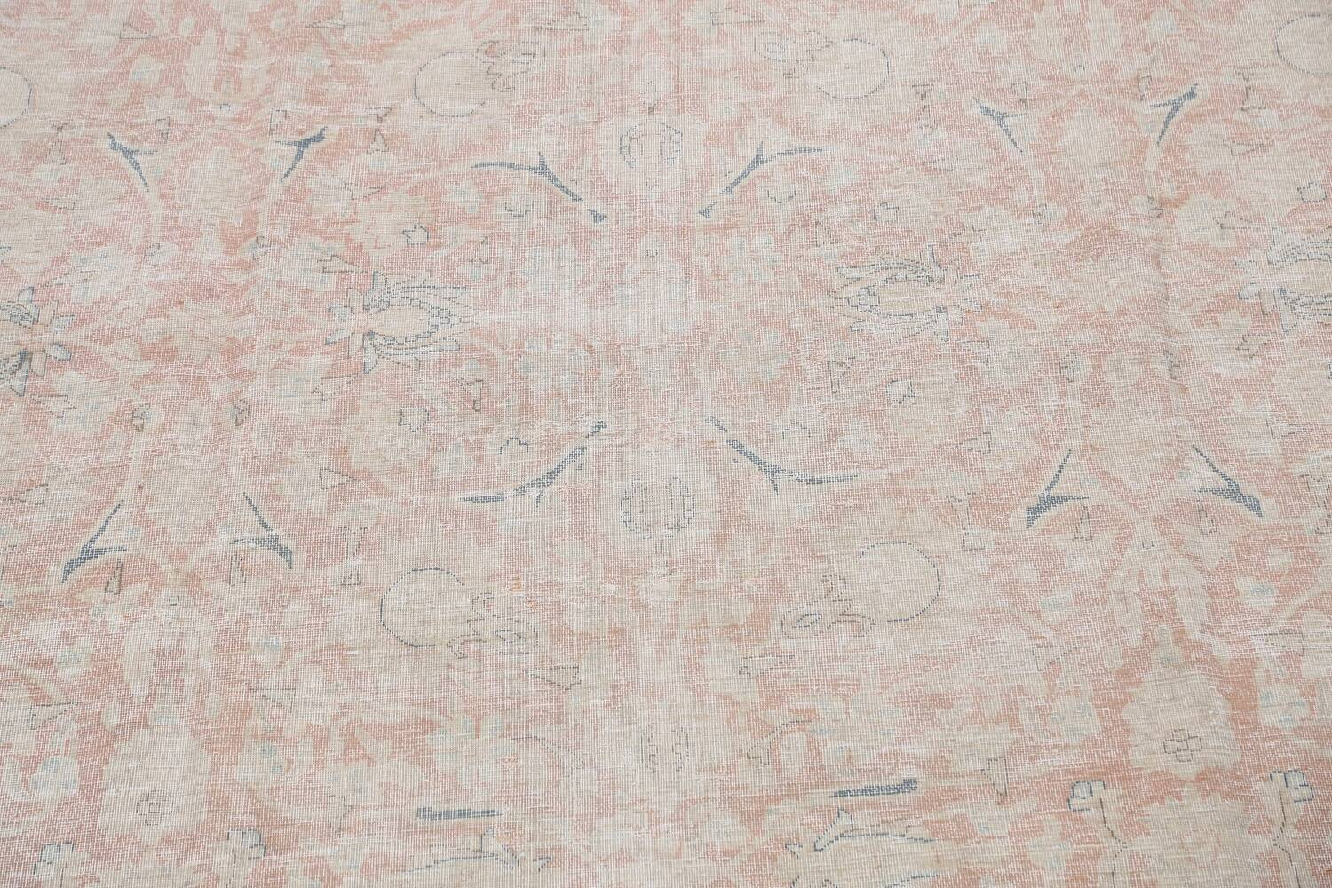 Antique Muted Kerman Persian Area Rug 10x13 image 4