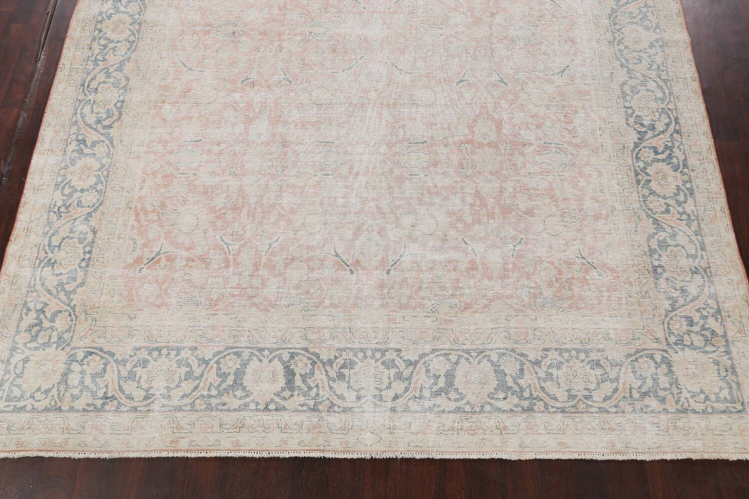 Antique Muted Kerman Persian Area Rug 10x13 image 8
