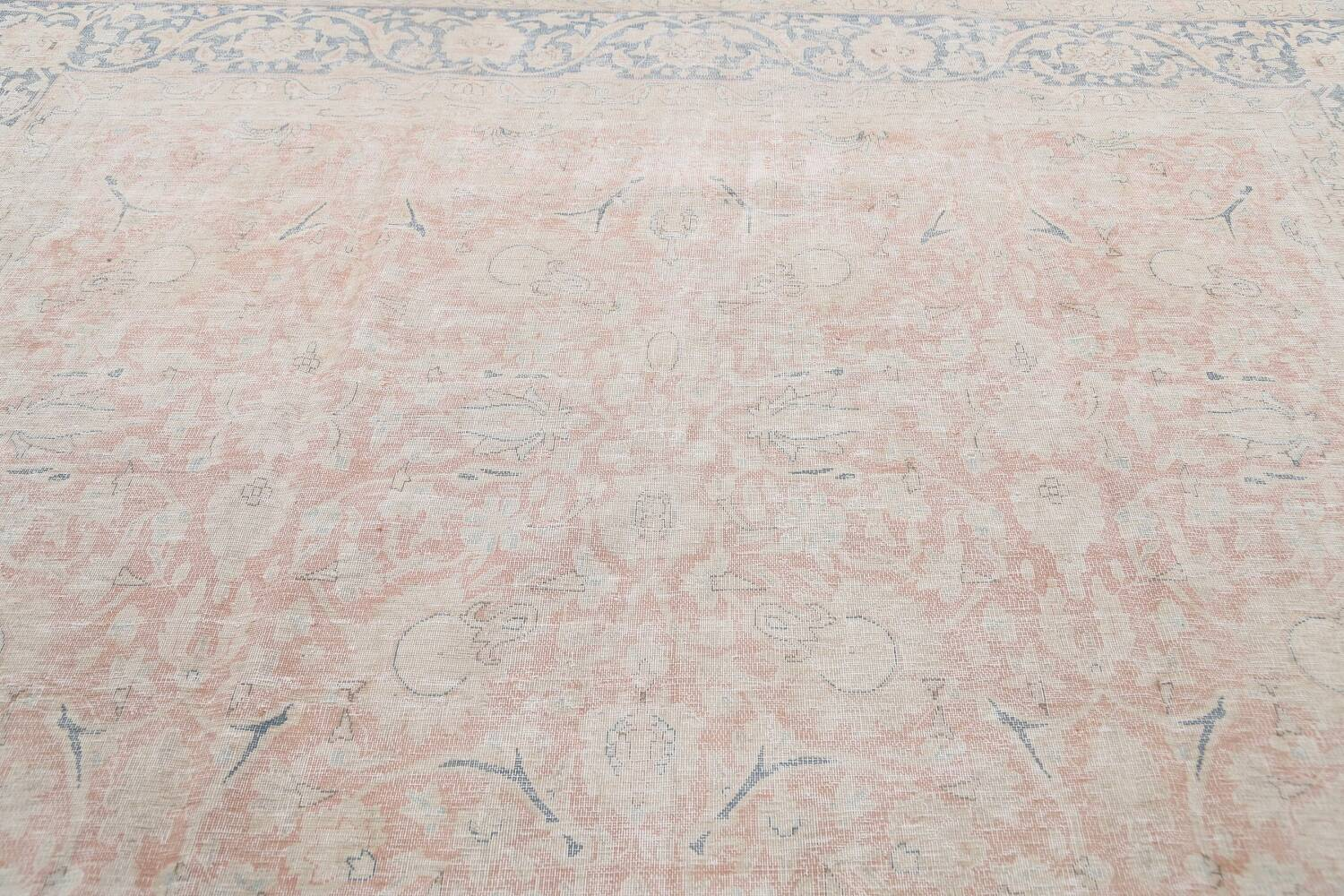 Antique Muted Kerman Persian Area Rug 10x13 image 11