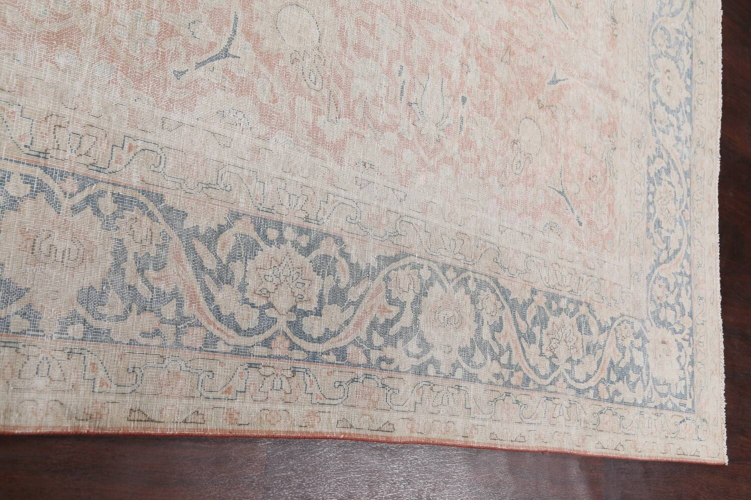 Antique Muted Kerman Persian Area Rug 10x13 image 12