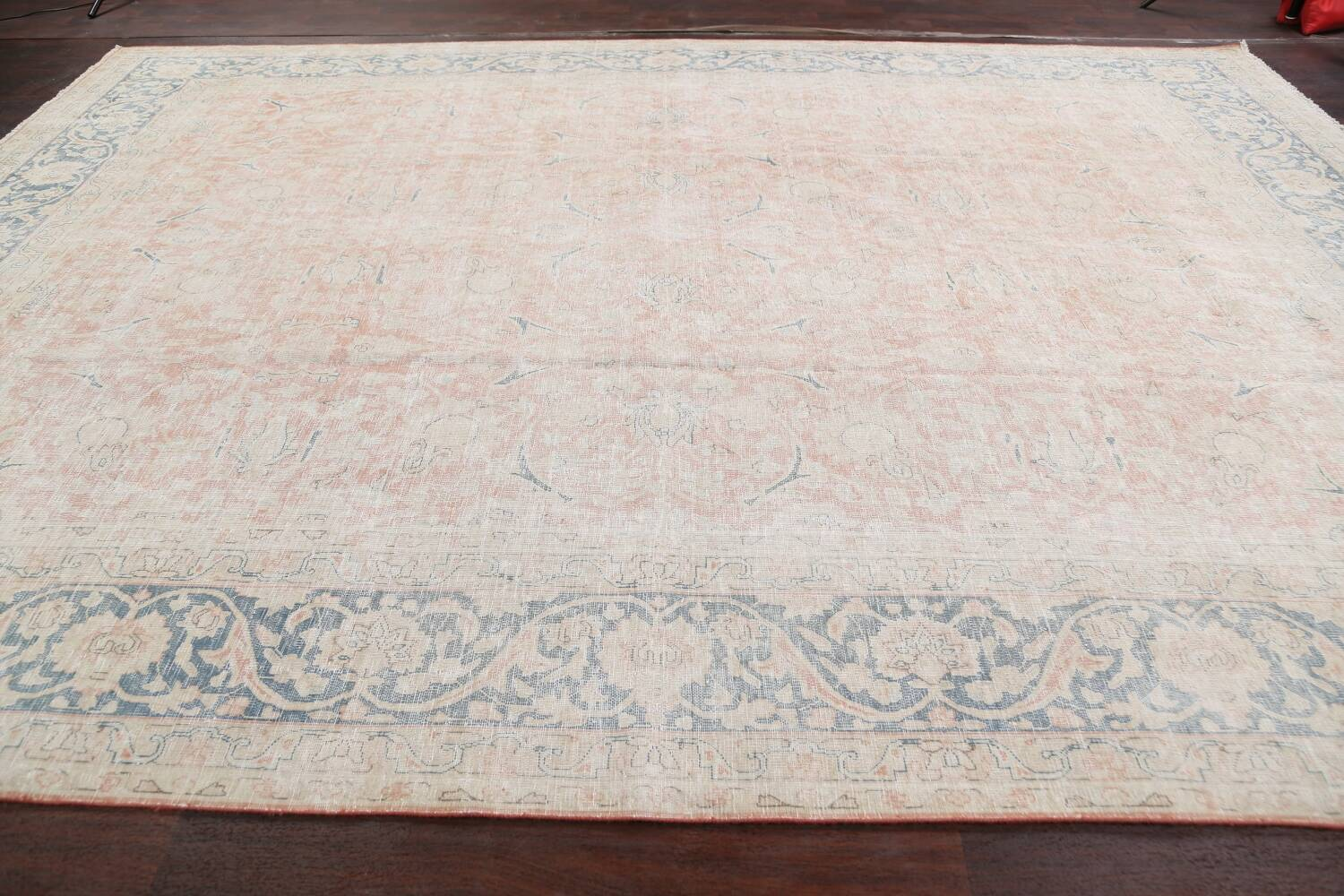 Antique Muted Kerman Persian Area Rug 10x13 image 13