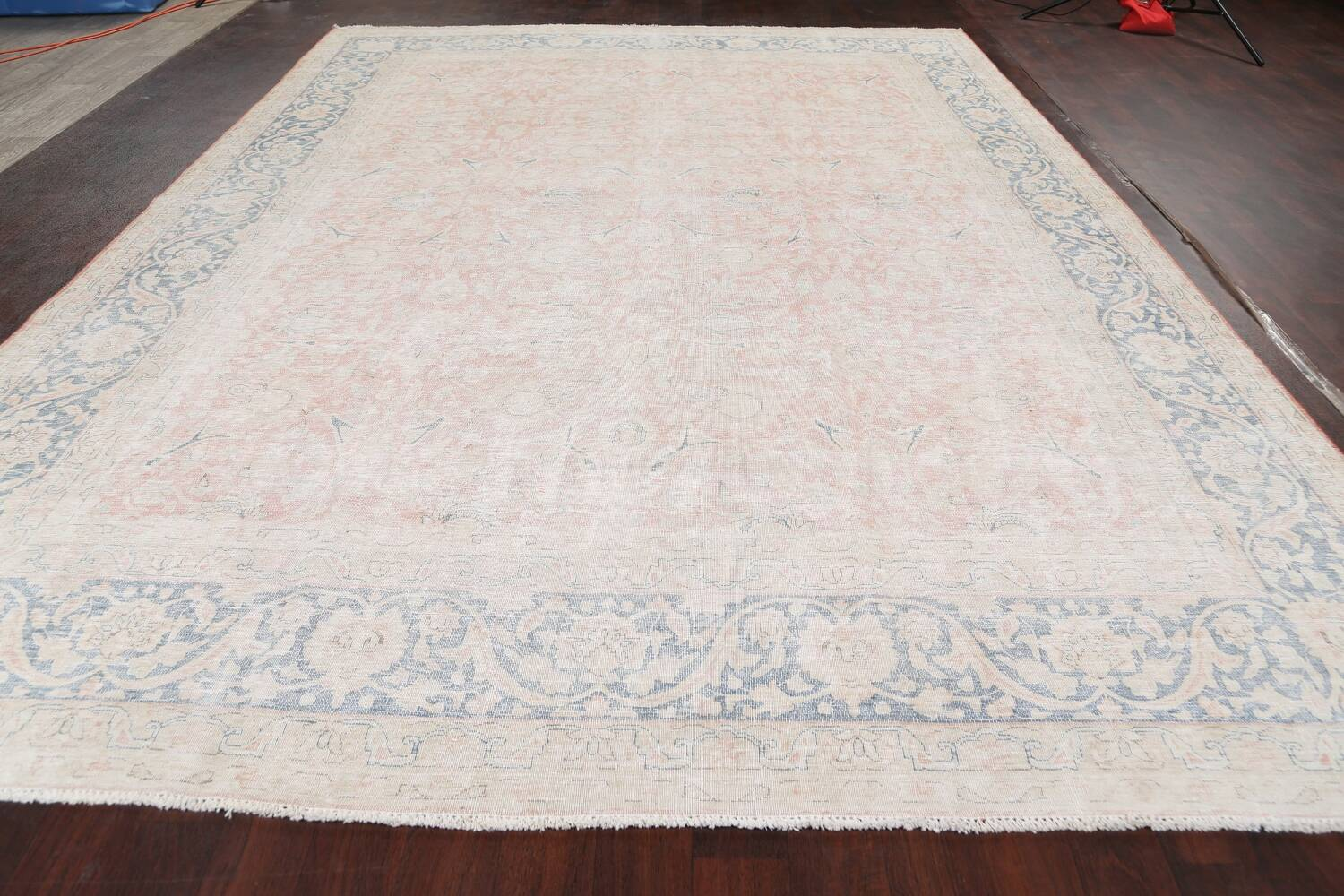 Antique Muted Kerman Persian Area Rug 10x13 image 14