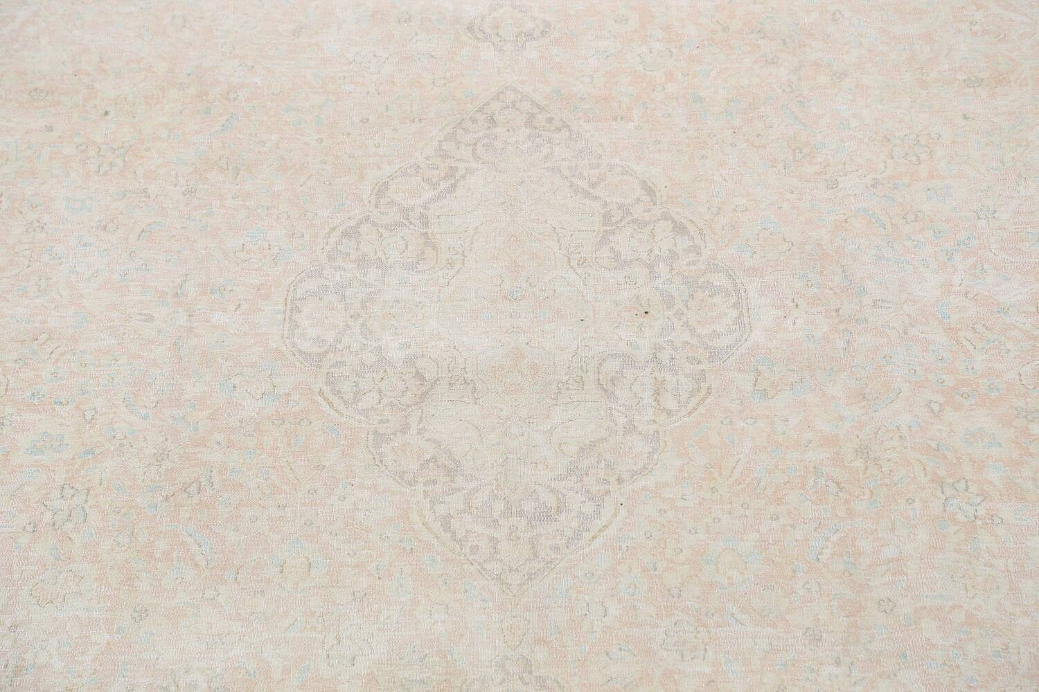 Antique Muted Distressed Kerman Persian Area Rug 10x12 image 4