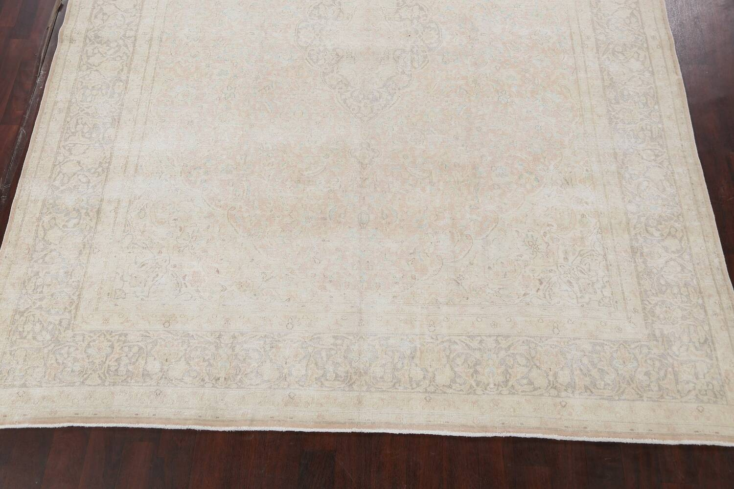 Antique Muted Distressed Kerman Persian Area Rug 10x12 image 8