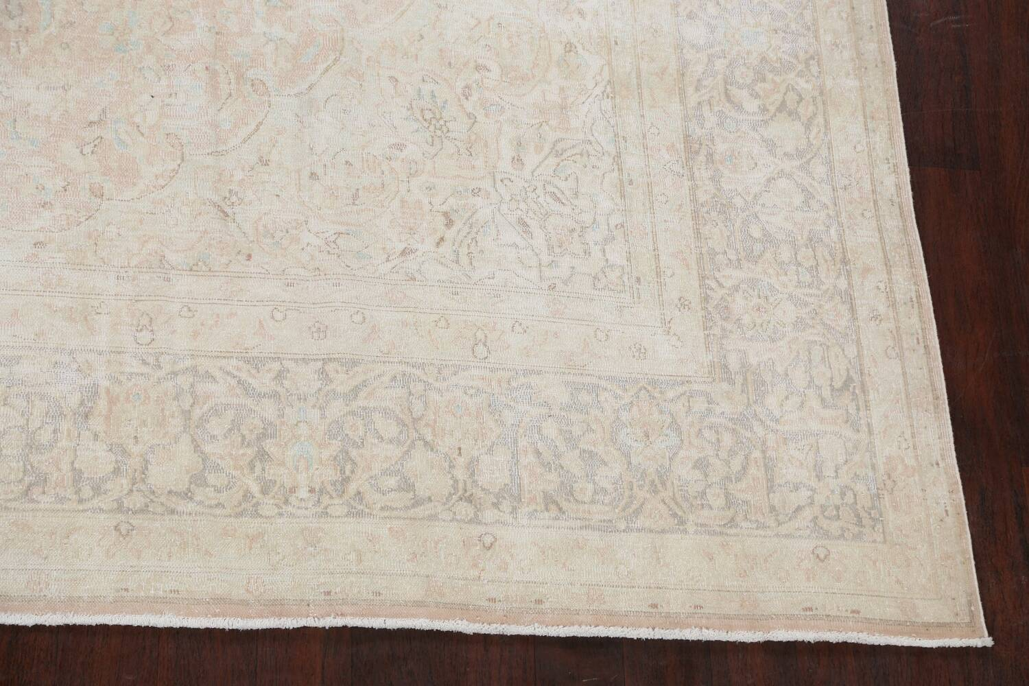 Antique Muted Distressed Kerman Persian Area Rug 10x12 image 5
