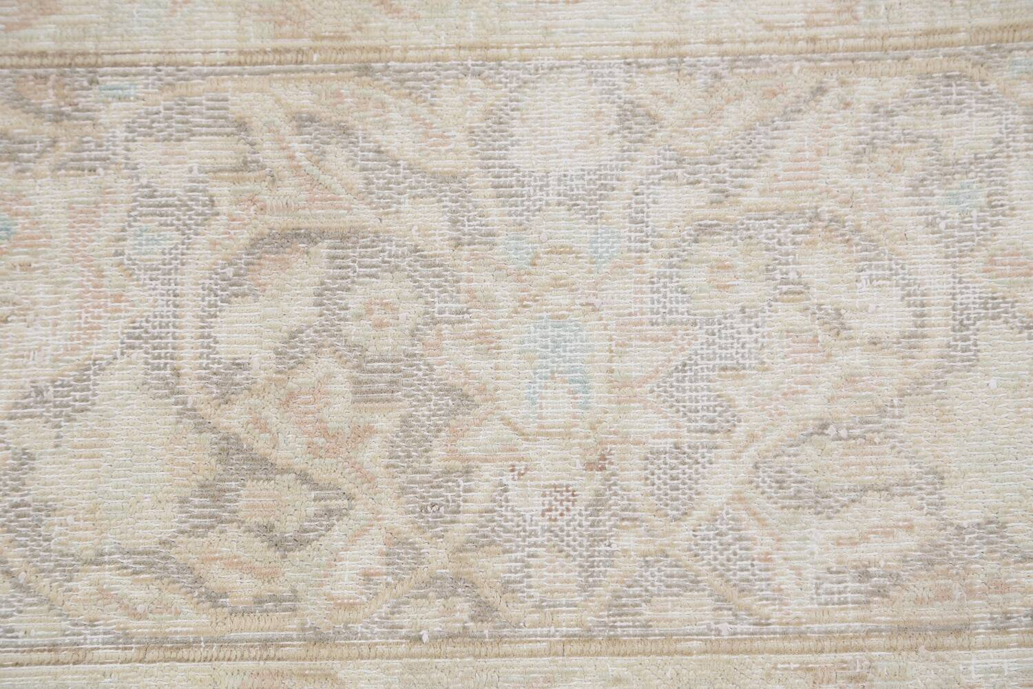 Antique Muted Distressed Kerman Persian Area Rug 10x12 image 9