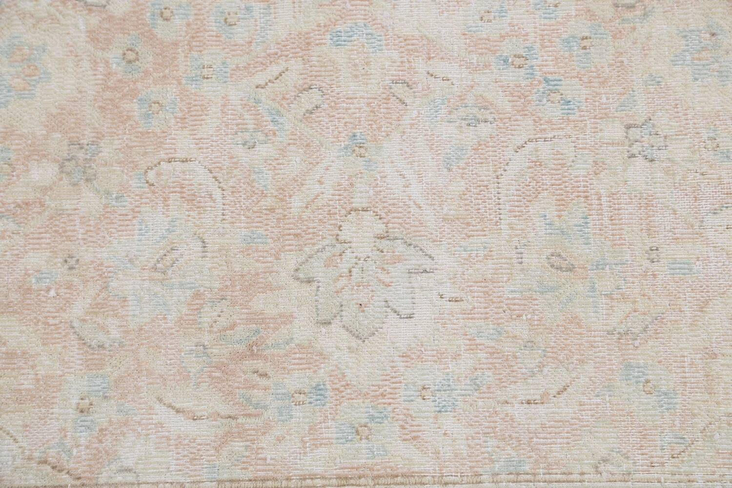 Antique Muted Distressed Kerman Persian Area Rug 10x12 image 10