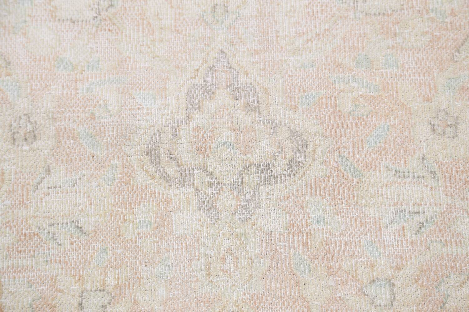 Antique Muted Distressed Kerman Persian Area Rug 10x12 image 11