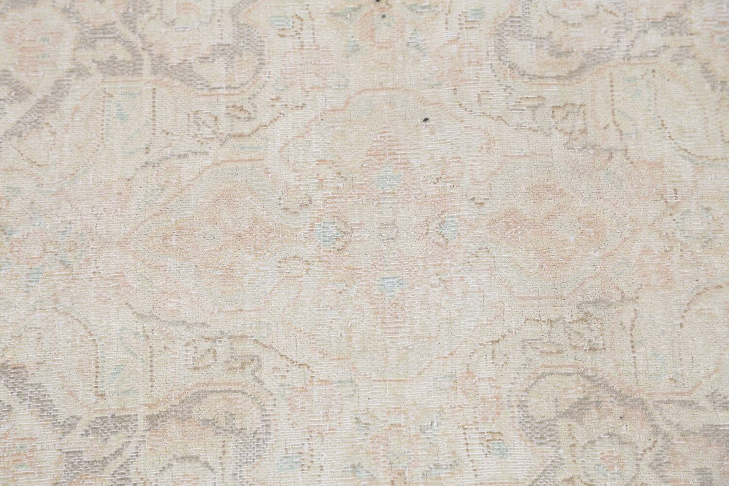 Antique Muted Distressed Kerman Persian Area Rug 10x12 image 12
