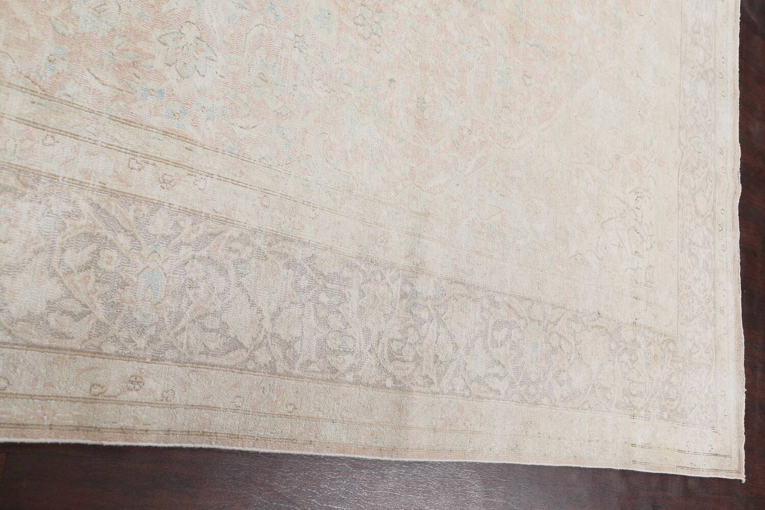Antique Muted Distressed Kerman Persian Area Rug 10x12 image 14