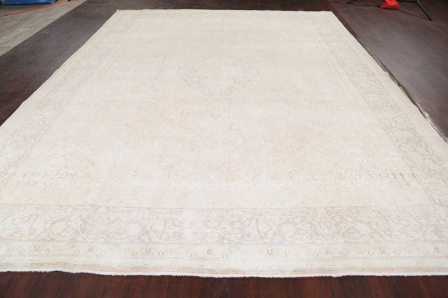 Antique Muted Distressed Kerman Persian Area Rug 10x12 image 16