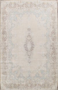 Antique Muted Kerman Persian Area Rug 10x14