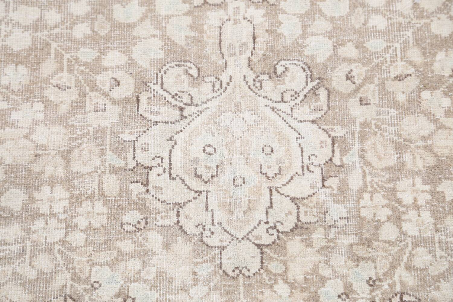 Antique Muted Kerman Persian Area Rug 7x9 image 11