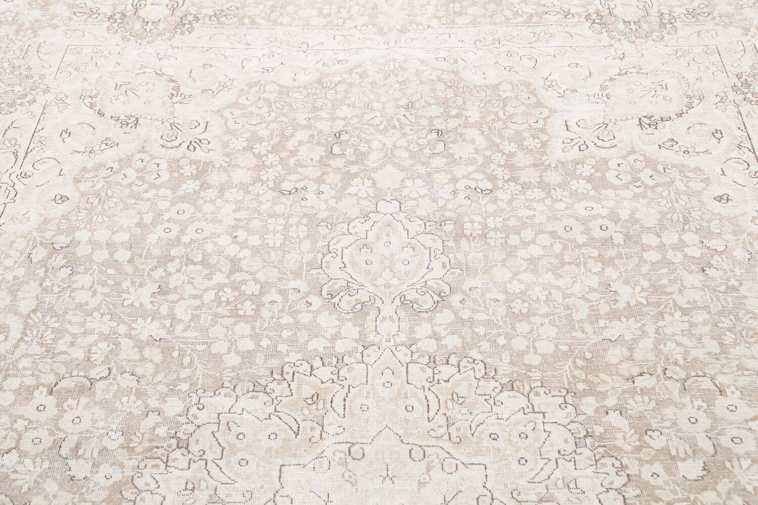 Antique Muted Kerman Persian Area Rug 7x9 image 13