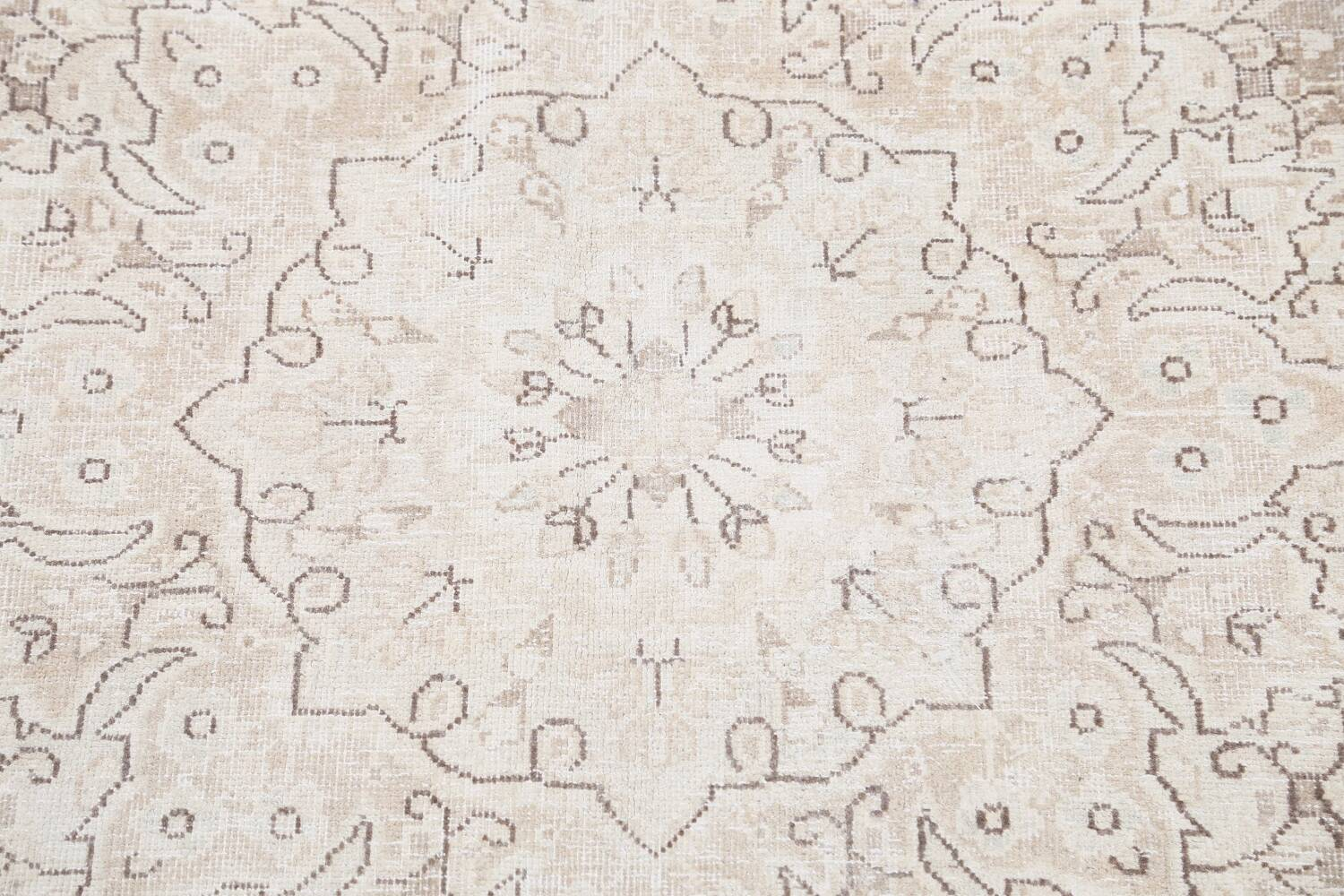 Antique Muted Kerman Persian Area Rug 7x9 image 12