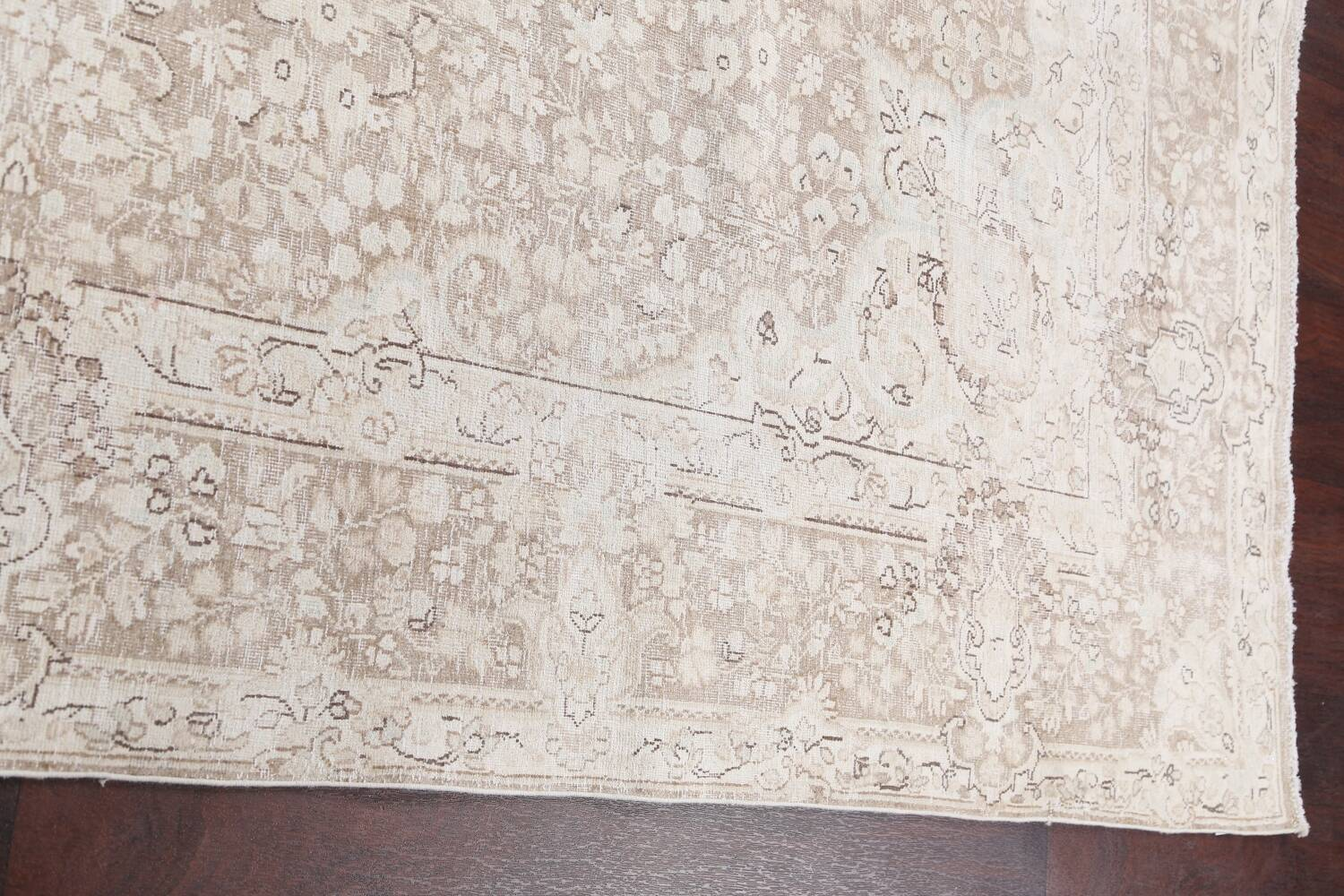 Antique Muted Kerman Persian Area Rug 7x9 image 14