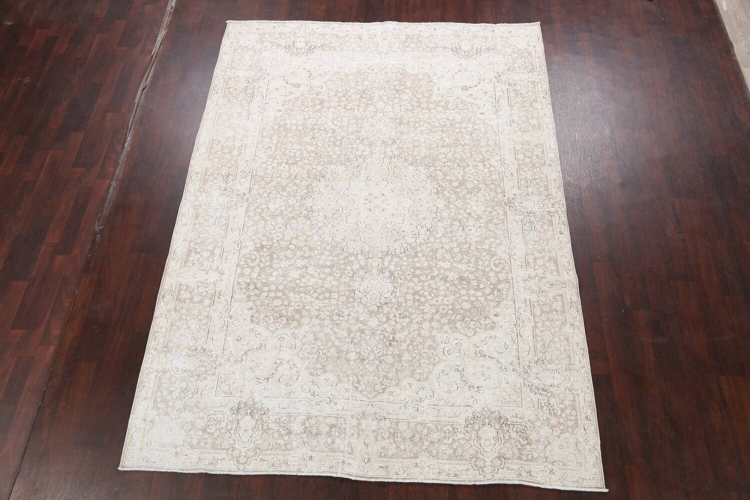 Antique Muted Kerman Persian Area Rug 7x9 image 2