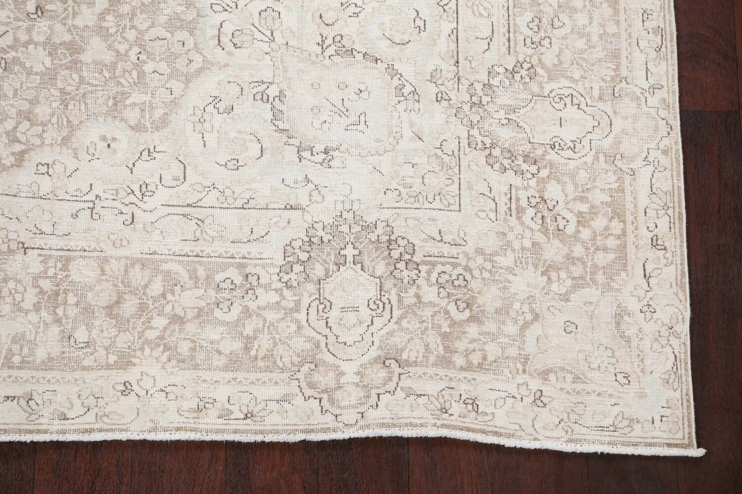 Antique Muted Kerman Persian Area Rug 7x9 image 5