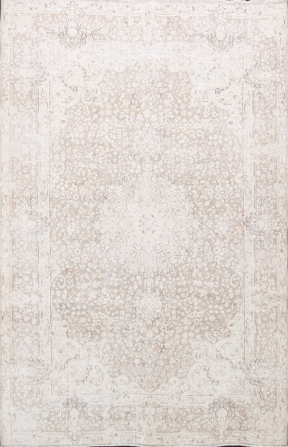 Antique Muted Kerman Persian Area Rug 7x9 image 1